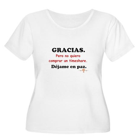 No Timeshares Women's Plus Size Scoop Neck T-Shirt