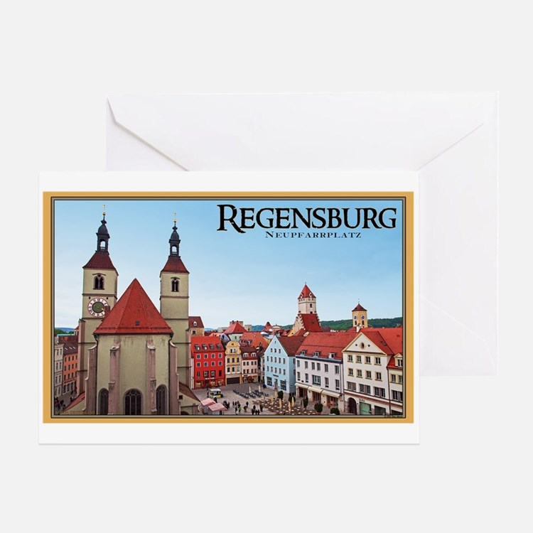 Regensburg Neupfarrkirch Greeting Card