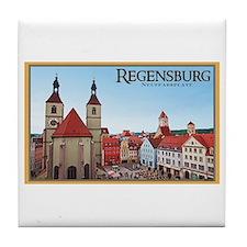 Regensburg Neupfarrkirch Tile Coaster