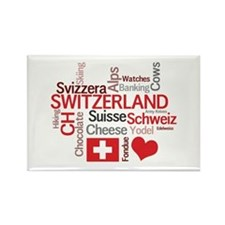 Switzerland - Favorite Swiss Things Rectangle Magn
