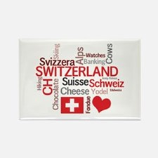 Switzerland - Favorite Swiss Things Rectangle Magn