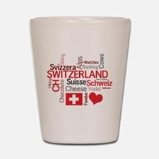 Switzerland - Favorite Swiss Things Shot Glass