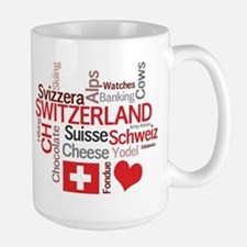 Switzerland - Favorite Swiss Things Large Mug