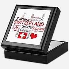 Switzerland - Favorite Swiss Things Keepsake Box