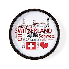 Switzerland - Favorite Swiss Things Wall Clock