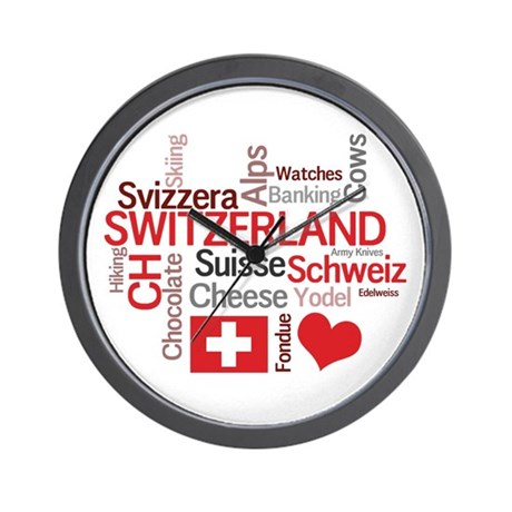 Switzerland - Favorite Swiss Things Wall Clock