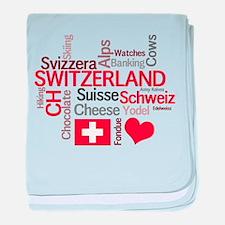 Switzerland - Favorite Swiss Things baby blanket