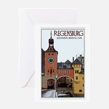 Regensburg Stone Bridge Greeting Card