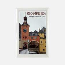 Regensburg Stone Bridge Rectangle Magnet