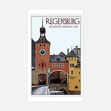 Regensburg Stone Bridge Sticker (Rectangle)