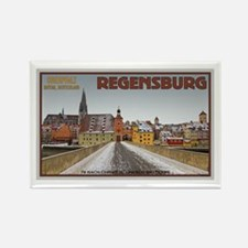 Regensburg Bridge Winter Rectangle Magnet