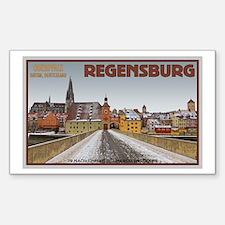 Regensburg Bridge Winter Decal
