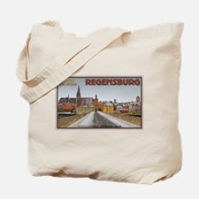 Regensburg Bridge Winter Tote Bag