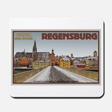 Regensburg Bridge Winter Mousepad