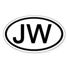 JW - Initial Oval Oval Decal
