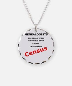 Red Losing Census Necklace
