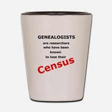 Red Losing Census Shot Glass