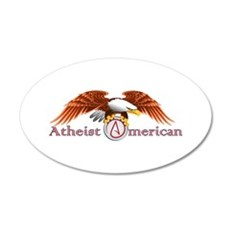American Atheist 22x14 Oval Wall Peel
