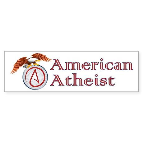 American Atheist Sticker (Bumper)