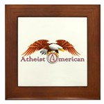 American Atheist Framed Tile