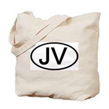 JV - Initial Oval Tote Bag