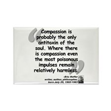 Hoffer Compassion Quote Rectangle Magnet (10 pack)