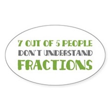 Fractions Oval Decal