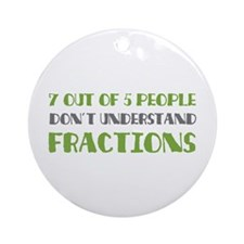Fractions Ornament (Round)