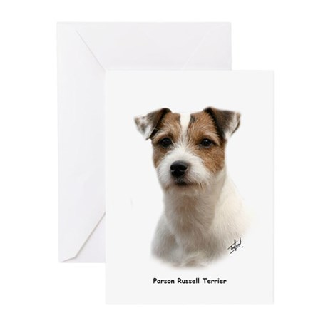 Parson Russell Terrier 9Y081D-014 Greeting Cards (