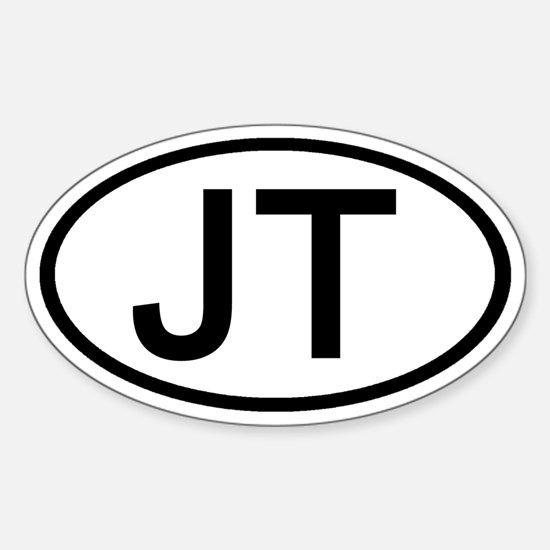 JT - Initial Oval Oval Decal