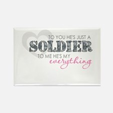 Funny Us army mom Rectangle Magnet