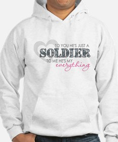 Funny Pink army wife Hoodie