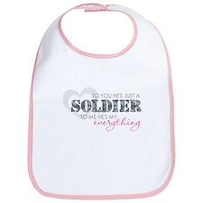 Cute I love my soldier Bib