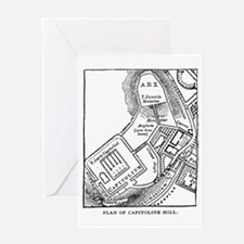 Rome's Capitoline Hill Plan Greeting Card