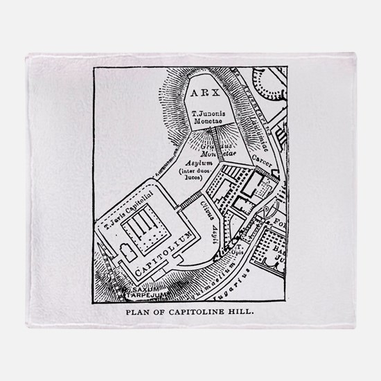Rome's Capitoline Hill Plan Throw Blanket