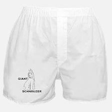 giant schnauzer looks down Boxer Shorts