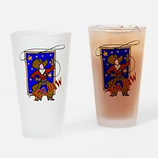 Cowboy Yee Haw Drinking Glass
