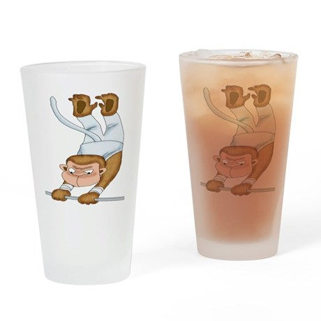 Monkey Gymnist Drinking Glass