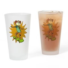 Skateboard Monkey Drinking Glass