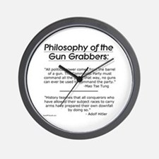 Philosophy of the Gun Grabbers Wall Clock