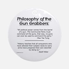 Philosophy of the Gun Grabbers Ornament (Round)