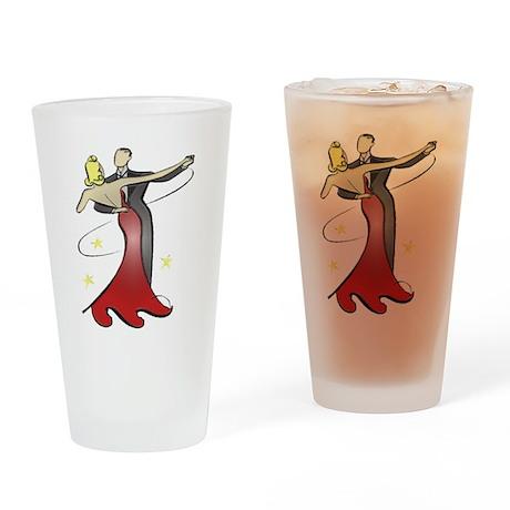 Vintage Ballroom Dancers Drinking Glass