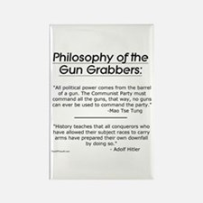 Philosophy of the Gun Grabbers Rectangle Magnet