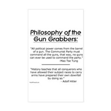 Philosophy of the Gun Grabbers Sticker (Rectangula