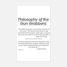 Philosophy of the Gun Grabbers Sticker (Rectangula
