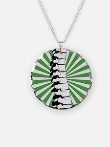 Green Burst Spine Necklace