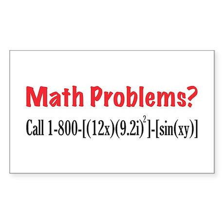 Math Problems Rectangle Sticker