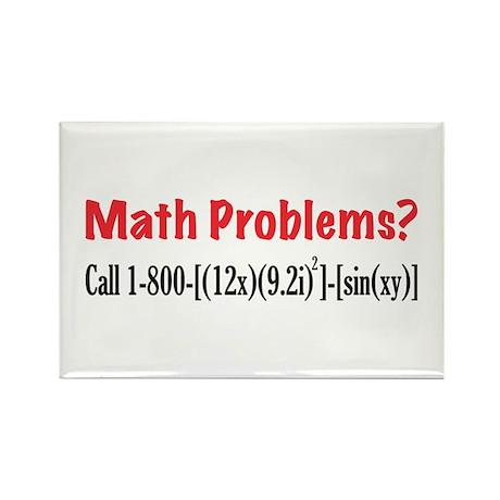 Math Problems Rectangle Magnet