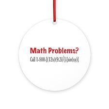 Math Problems Ornament (Round)
