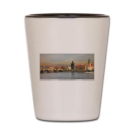 Charles Bridge Panorama Shot Glass